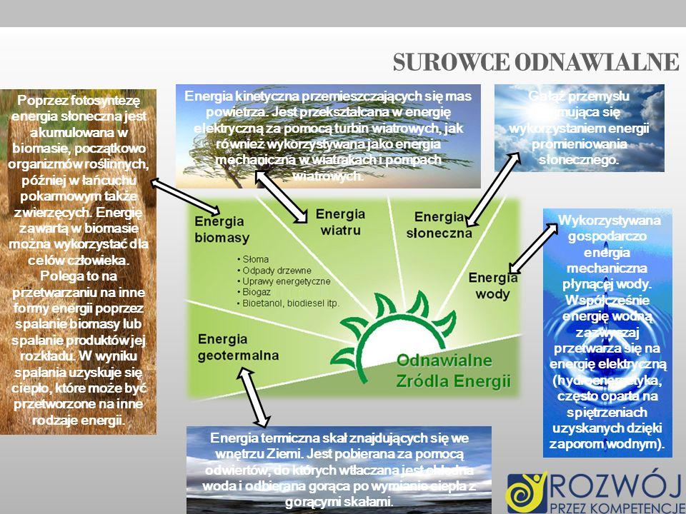 SUROWCE odnawialne