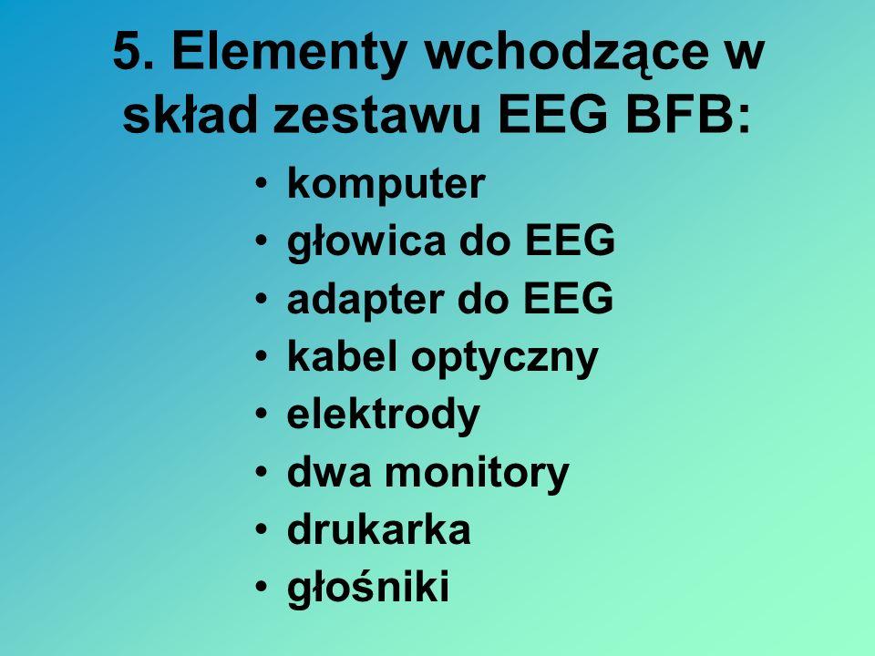 5. Elementy wchodzące w skład zestawu EEG BFB: