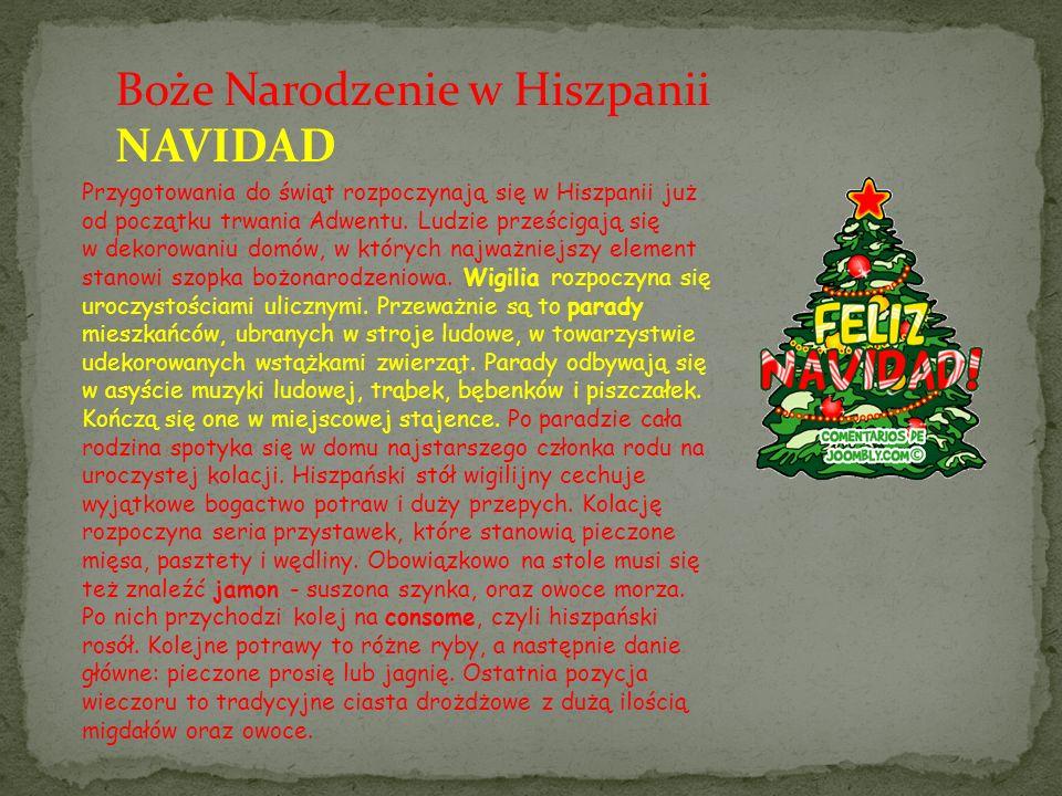 Boże Narodzenie w Hiszpanii NAVIDAD