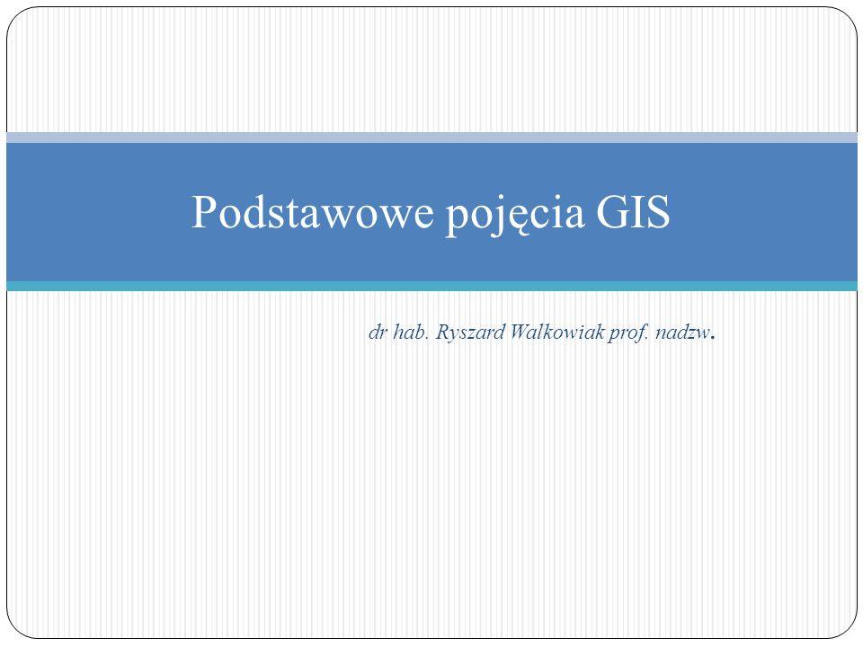 Podstawowe pojęcia GIS