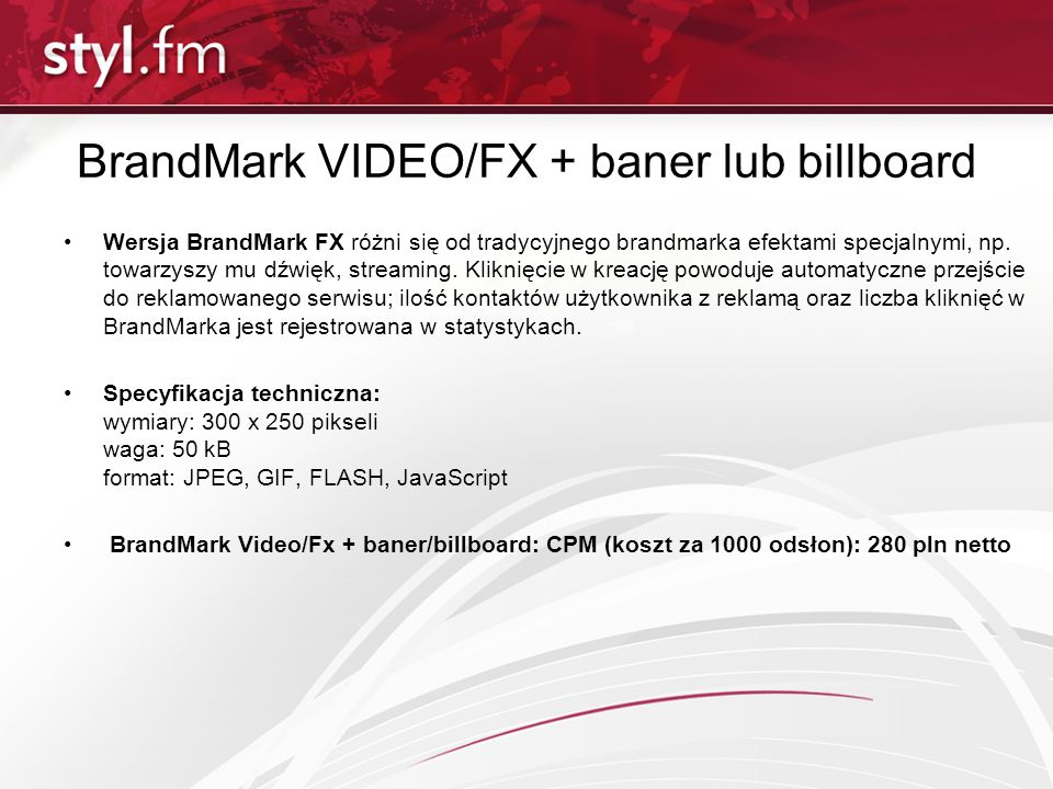 BrandMark VIDEO/FX + baner lub billboard