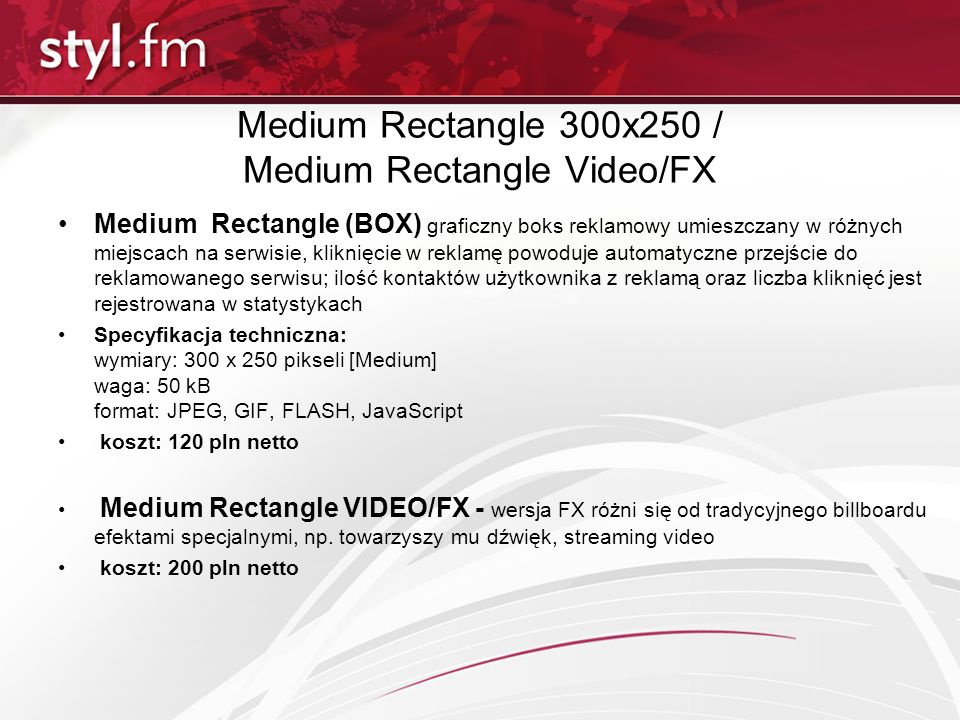 Medium Rectangle 300x250 / Medium Rectangle Video/FX