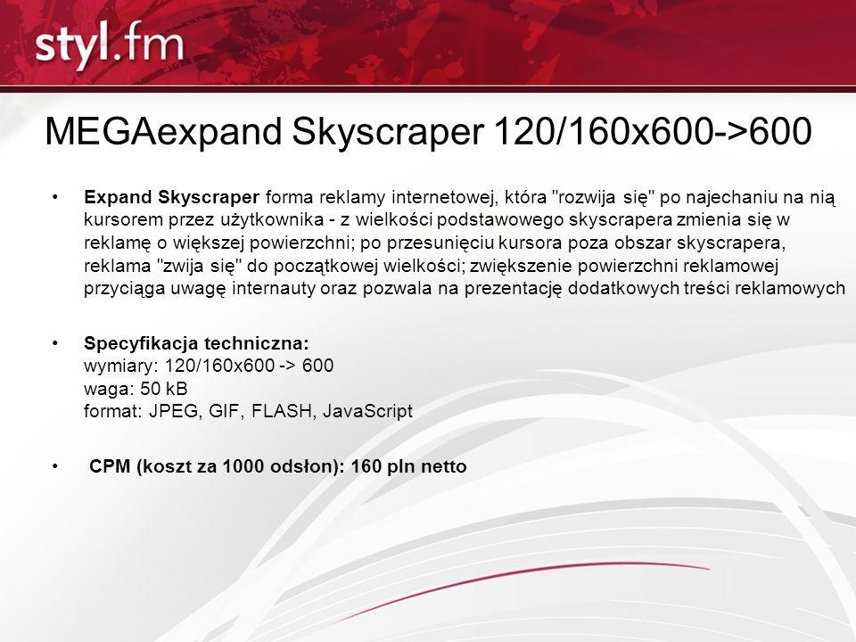 MEGAexpand Skyscraper 120/160x600->600