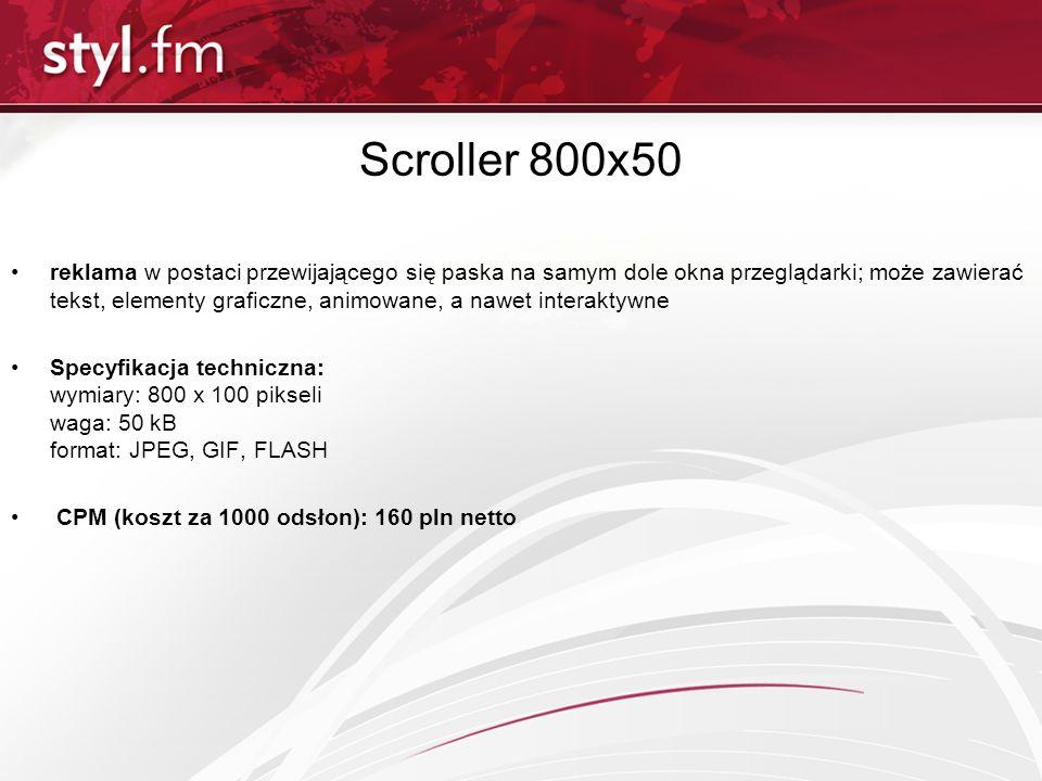 Scroller 800x50