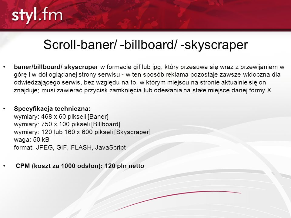 Scroll-baner/ -billboard/ -skyscraper