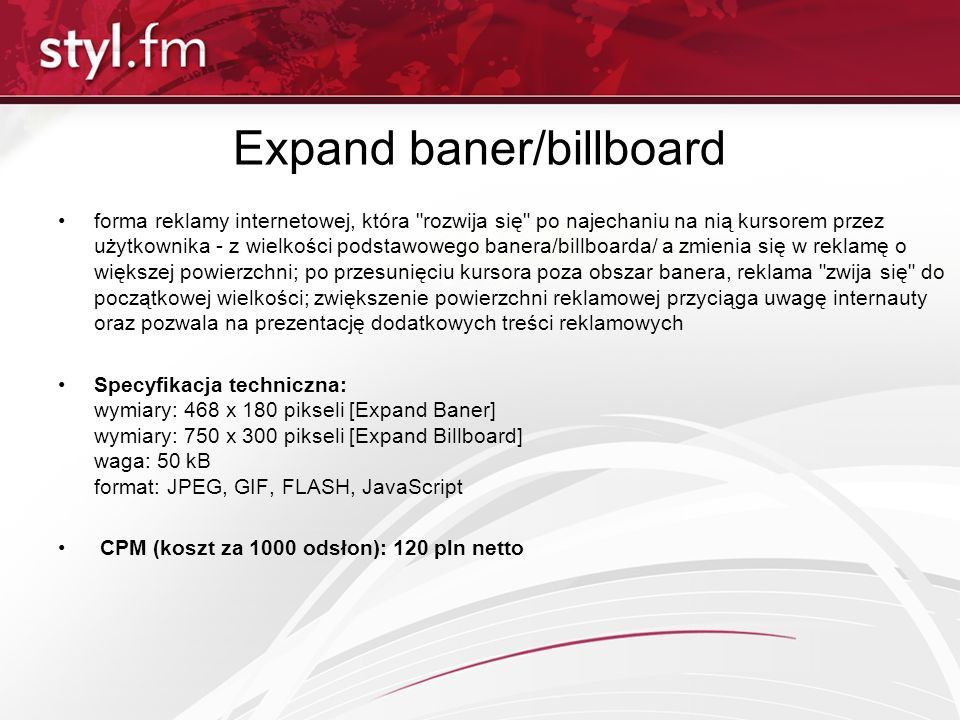Expand baner/billboard