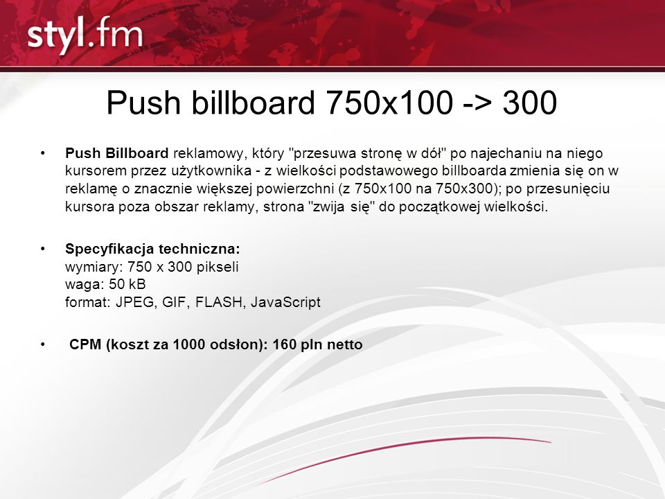 Push billboard 750x100 -> 300