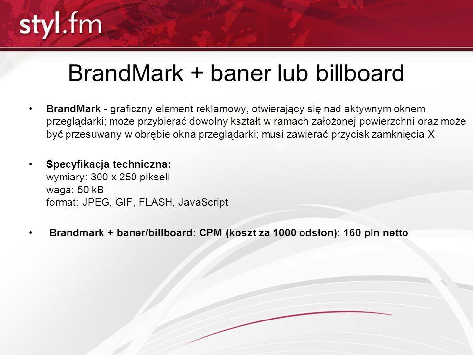BrandMark + baner lub billboard
