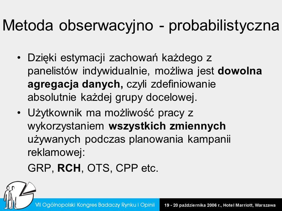 Metoda obserwacyjno - probabilistyczna