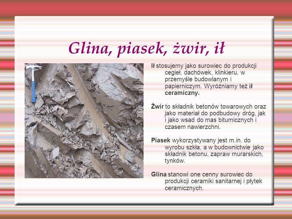 Glina, piasek, żwir, ił