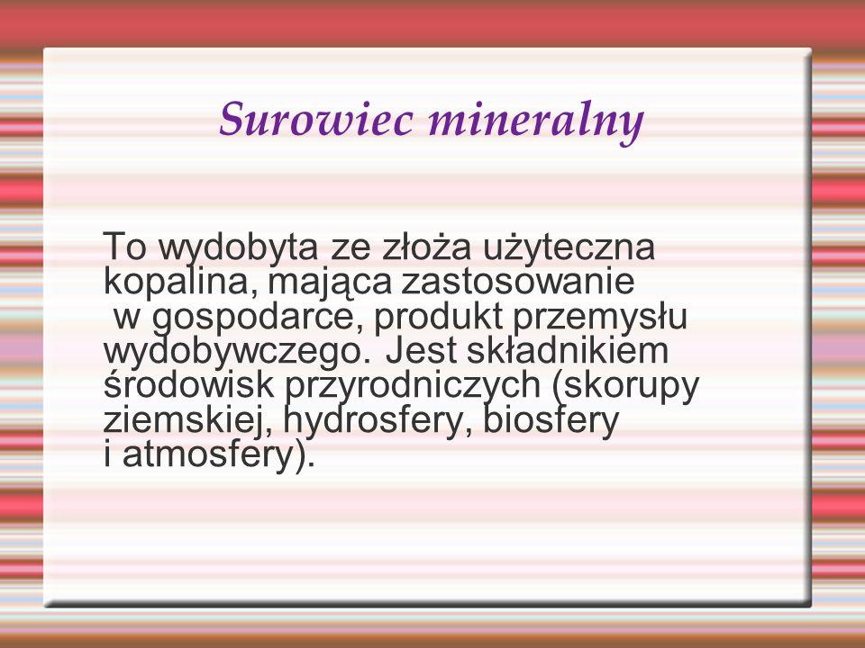 Surowiec mineralny