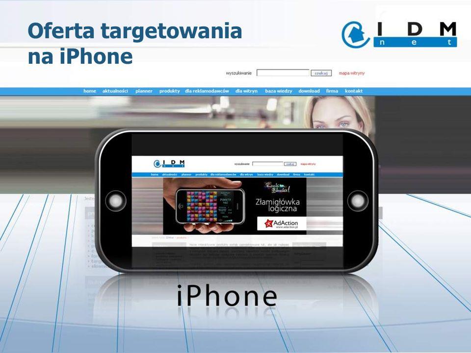 Oferta targetowania na iPhone