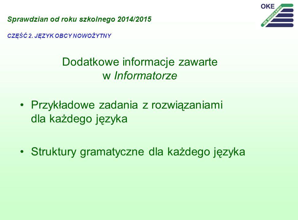 Dodatkowe informacje zawarte w Informatorze