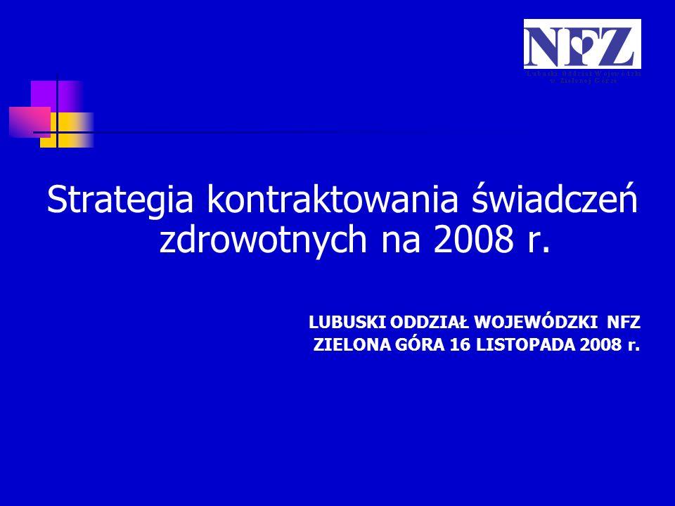 Strategia kontraktowania świadczeń zdrowotnych na 2008 r.