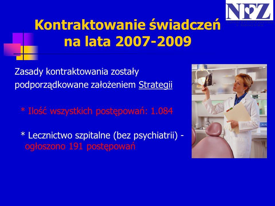 Kontraktowanie świadczeń na lata 2007-2009