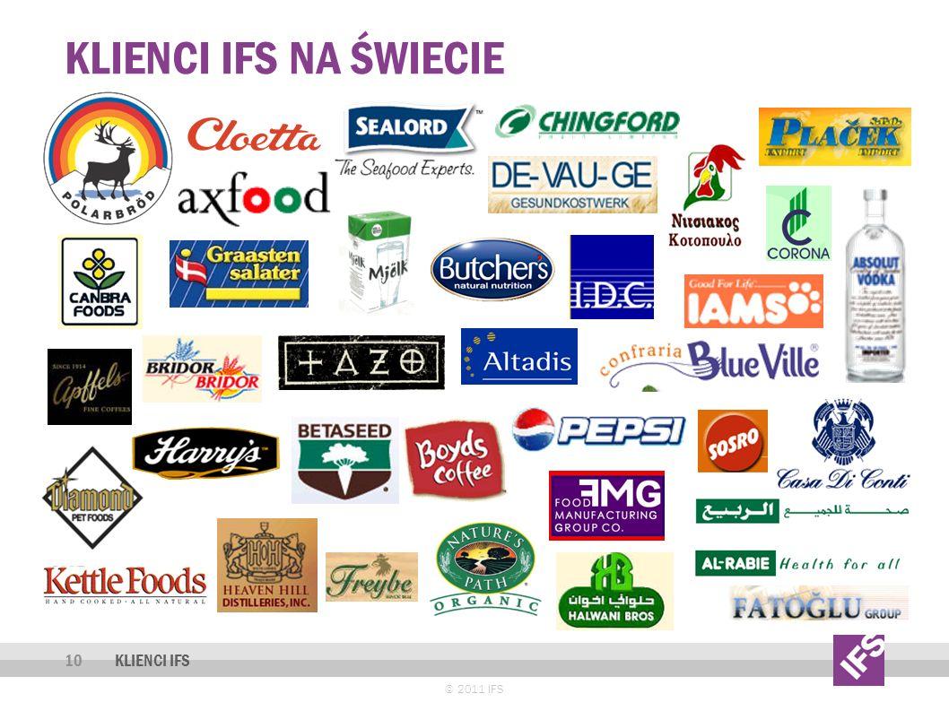 Klienci ifs na świecie KLIENCI IFS © 2011 IFS