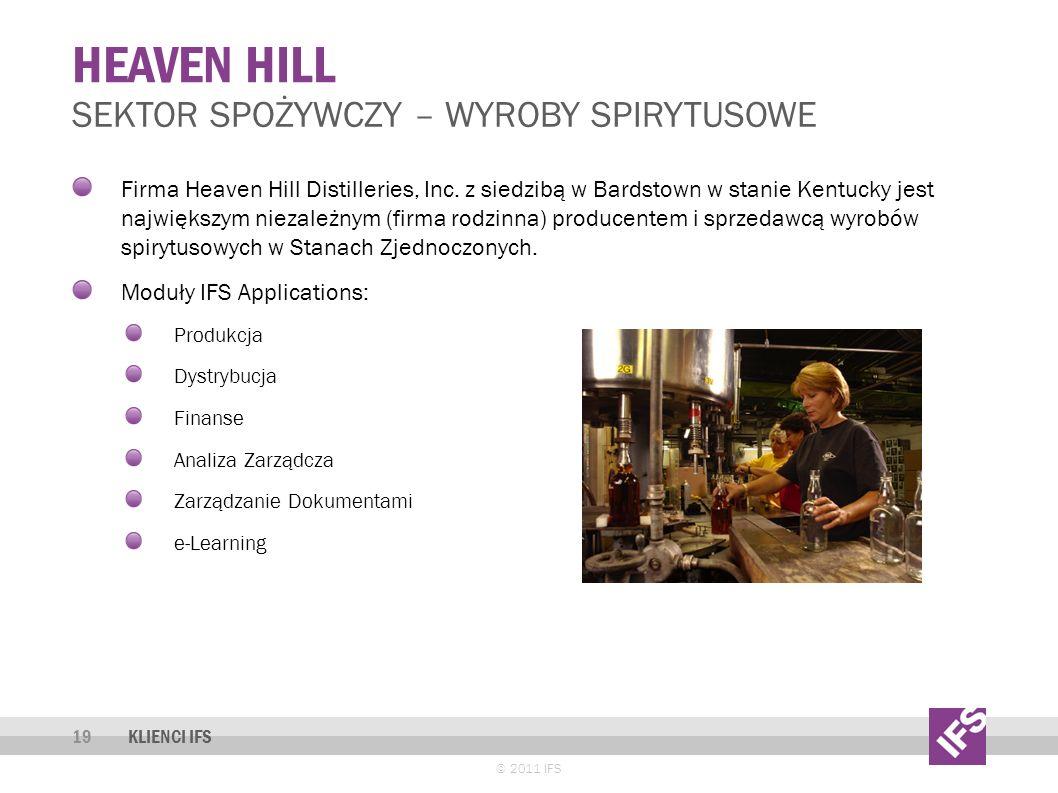 Heaven hill Sektor spożywczy – wyroby spirytusowe