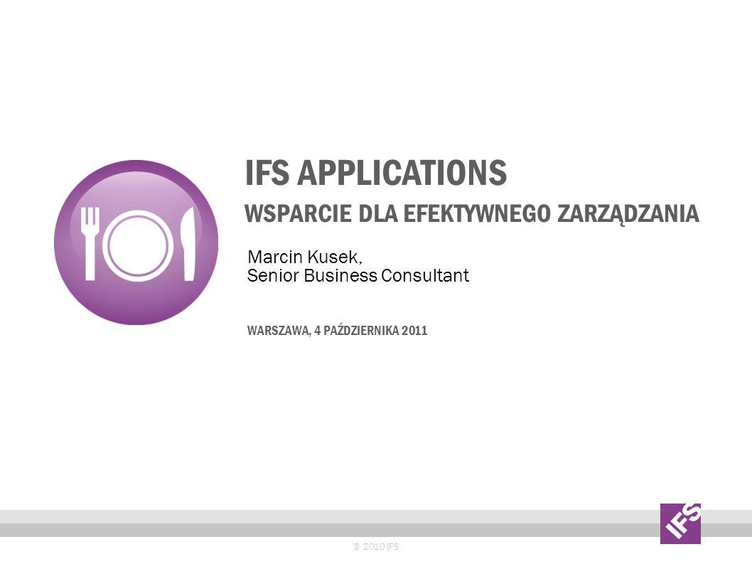 IFS Applications wsparcie dla efektywnego zarządzania