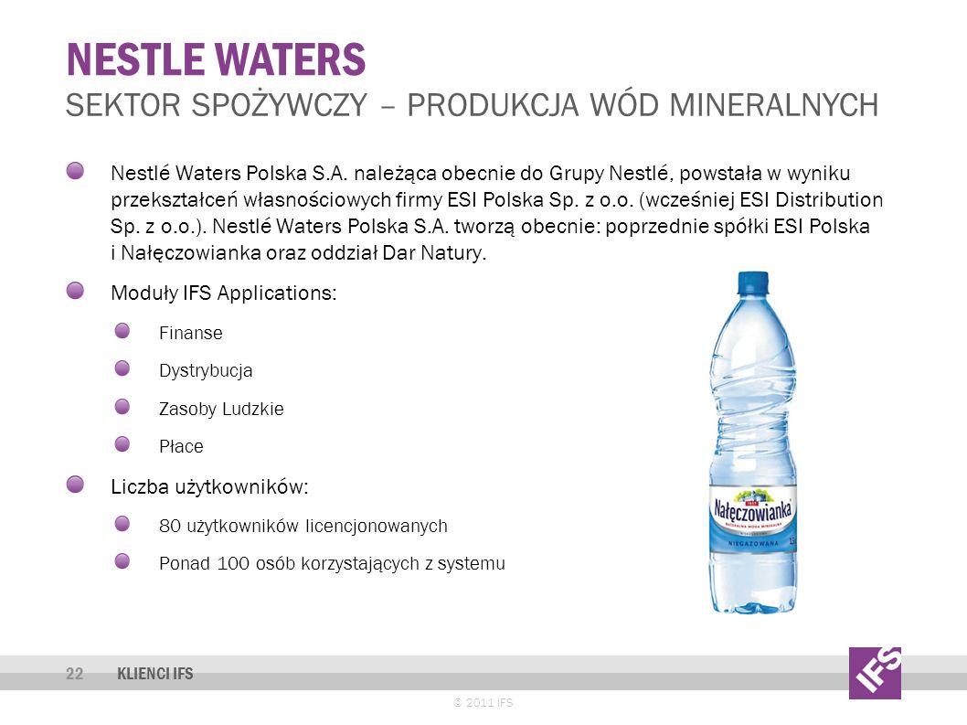 Nestle waters Sektor spożywczy – produkcja wód mineralnych