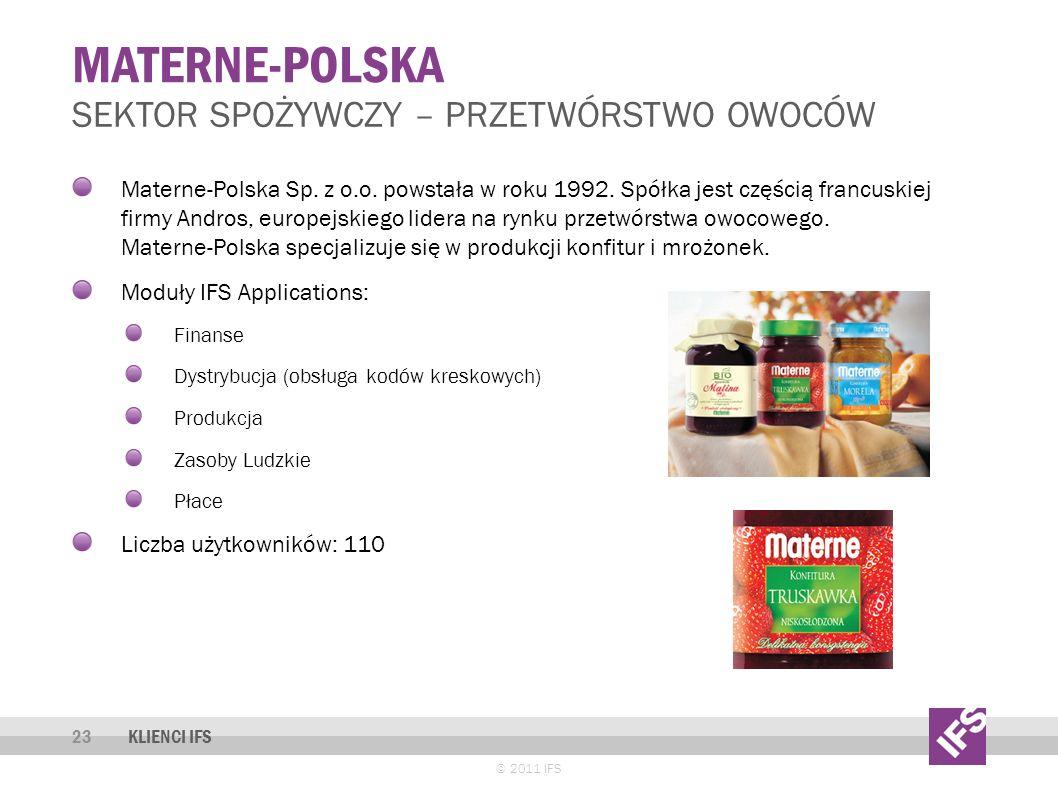 Materne-polska Sektor spożywczy – przetwórstwo owoców