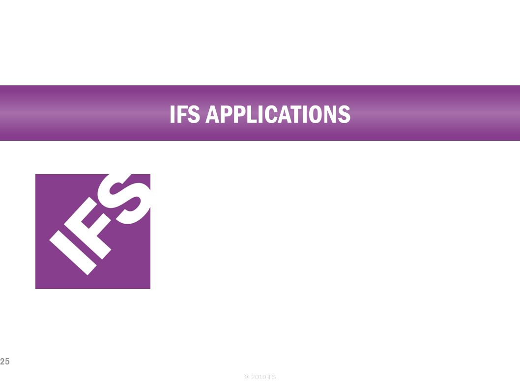 IFS Applications © 2010 IFS