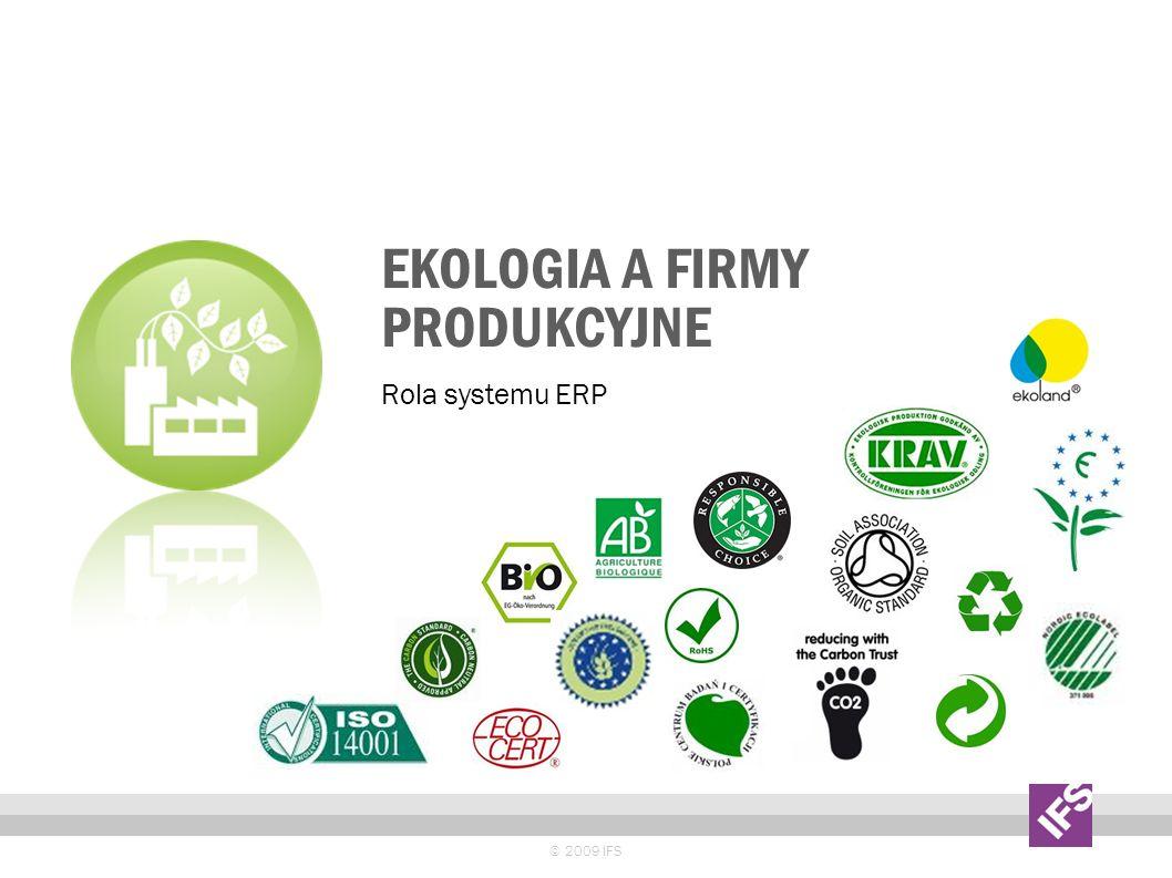 Ekologia a firmy produkcyjne