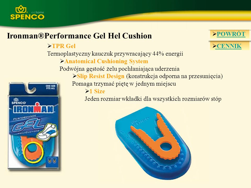 Ironman®Performance Gel Hel Cushion