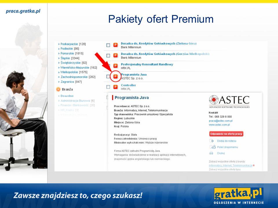 Pakiety ofert Premium