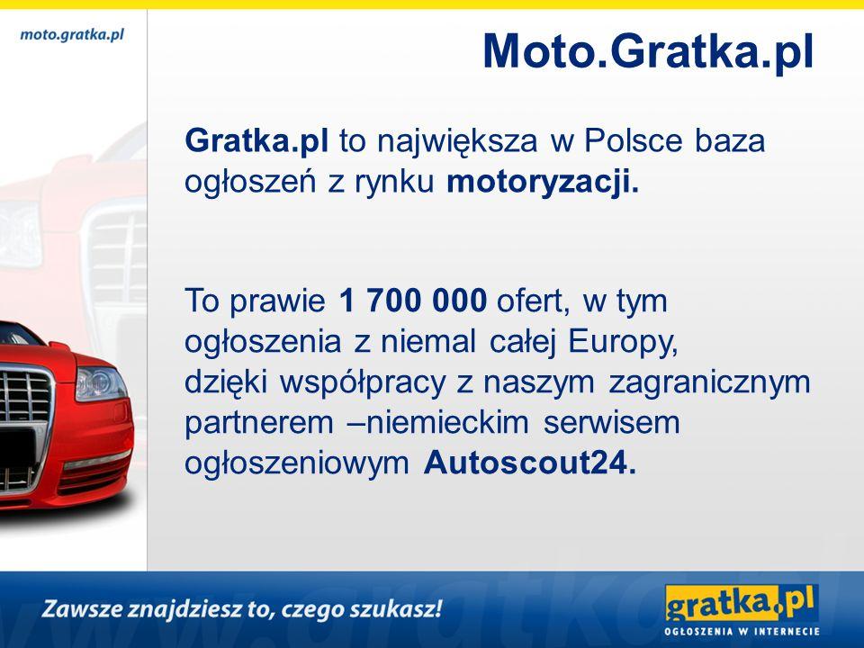 Moto.Gratka.pl Gratka.pl to największa w Polsce baza