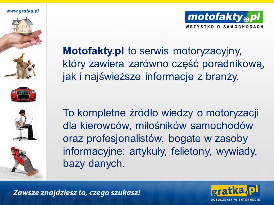 Motofakty.pl to serwis motoryzacyjny,