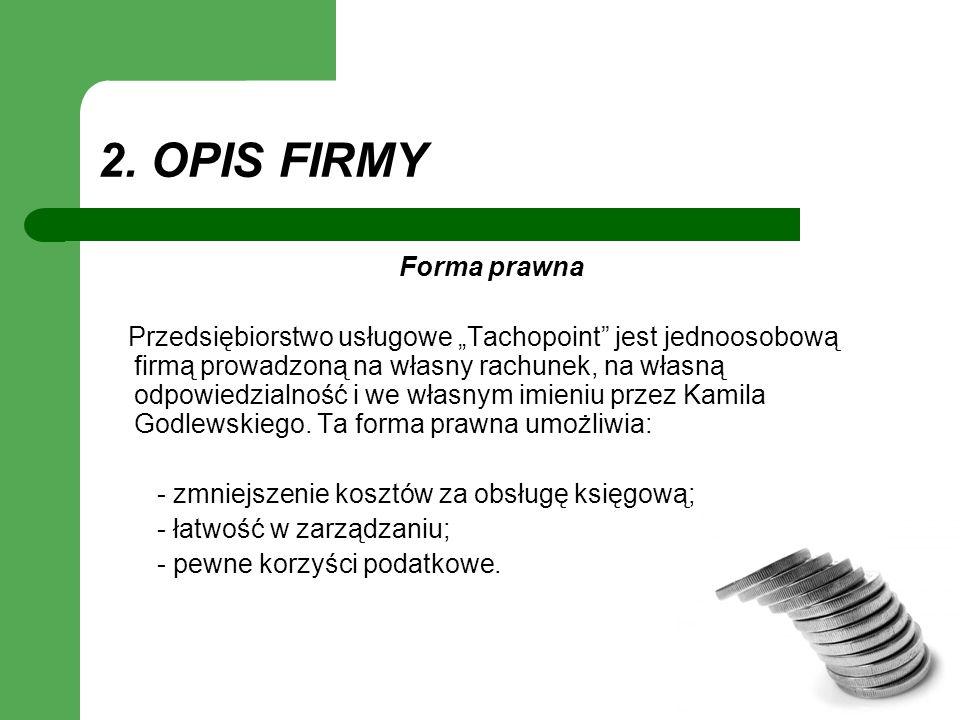 2. OPIS FIRMY Forma prawna
