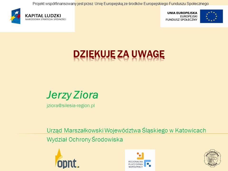 Jerzy Ziora DZIĘKUJĘ ZA UWAGĘ
