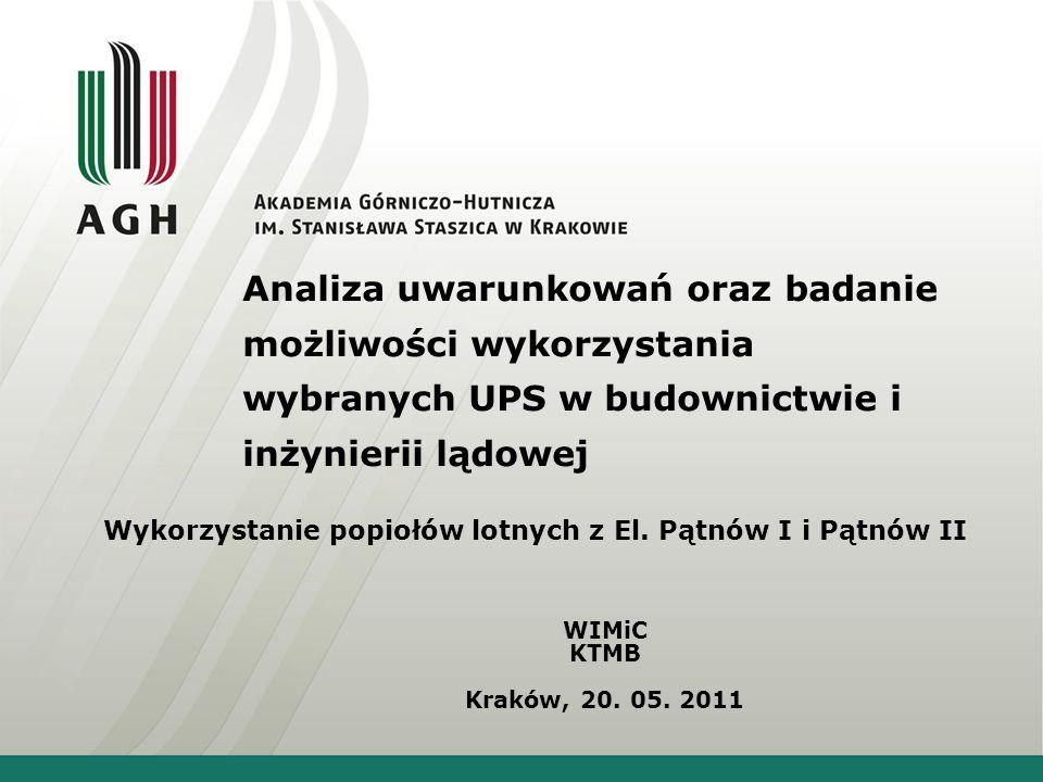 Analiza uwarunkowań oraz badanie możliwości wykorzystania wybranych UPS w budownictwie i inżynierii lądowej