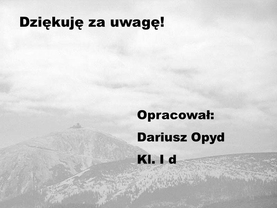 Dziękuję za uwagę! Opracował: Dariusz Opyd Kl. I d