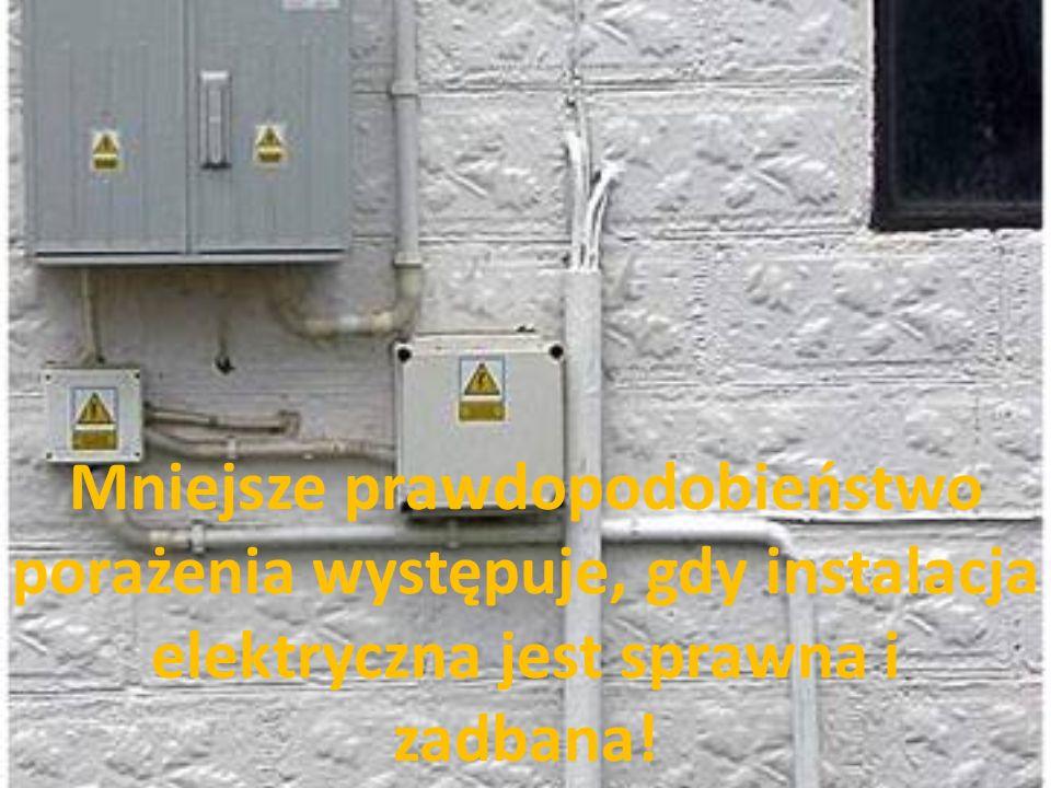Mniejsze prawdopodobieństwo porażenia występuje, gdy instalacja elektryczna jest sprawna i zadbana!