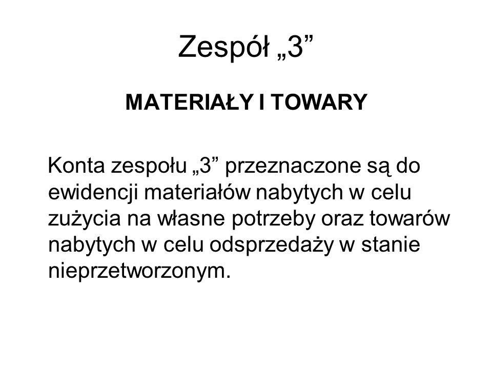 """Zespół """"3 MATERIAŁY I TOWARY"""
