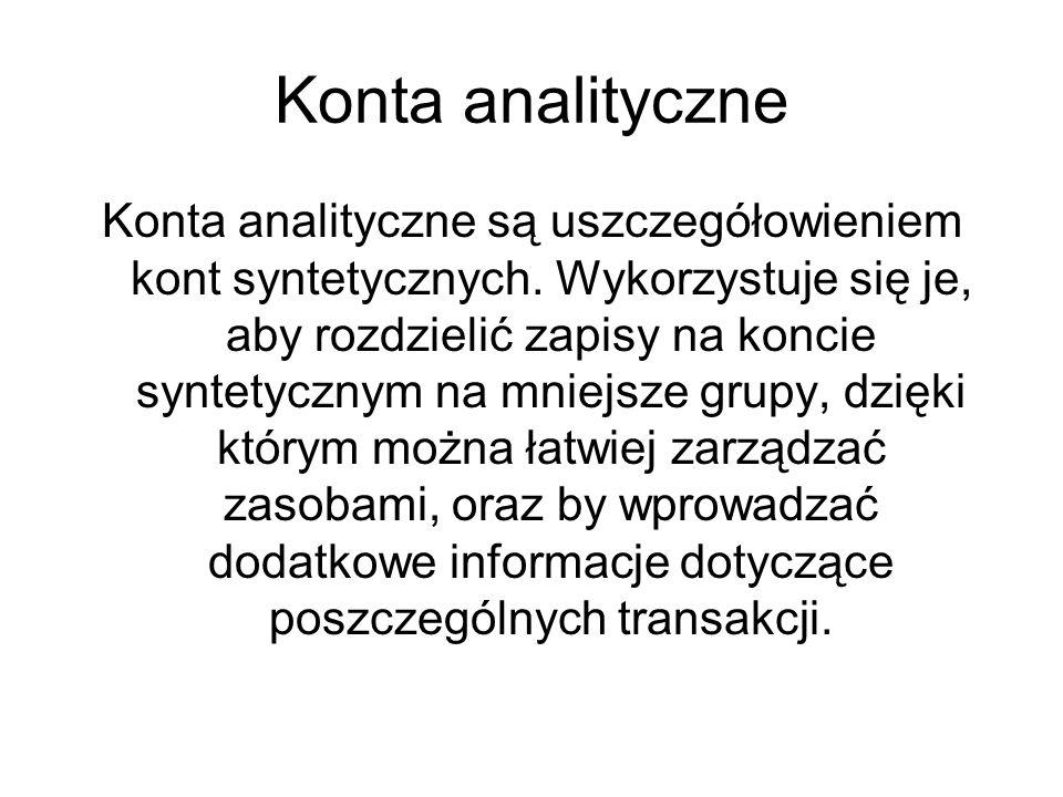 Konta analityczne