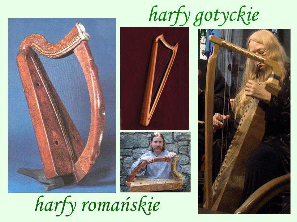 harfy gotyckie harfy romańskie