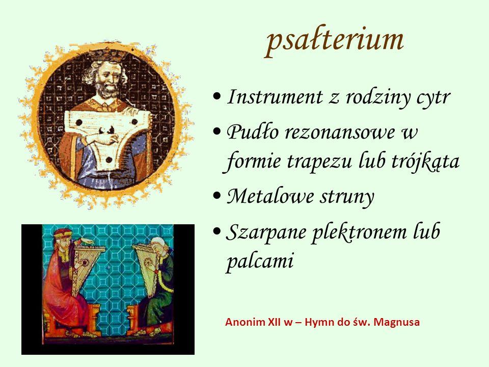 psałterium Instrument z rodziny cytr
