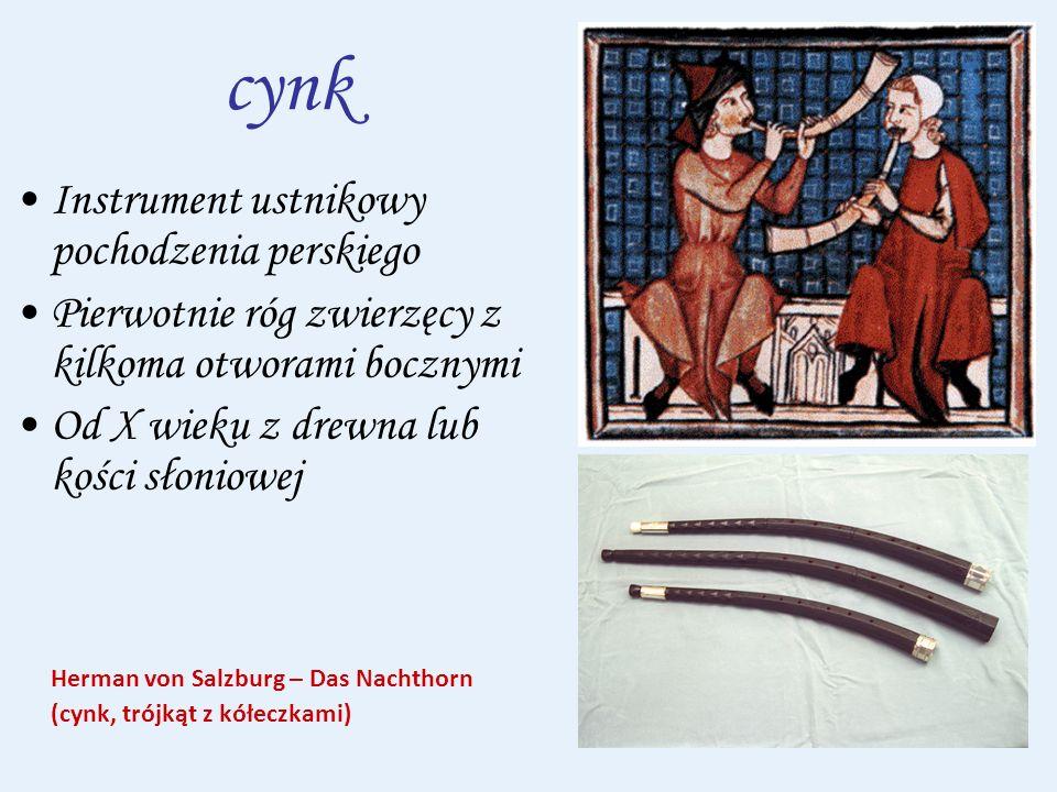 cynk Instrument ustnikowy pochodzenia perskiego
