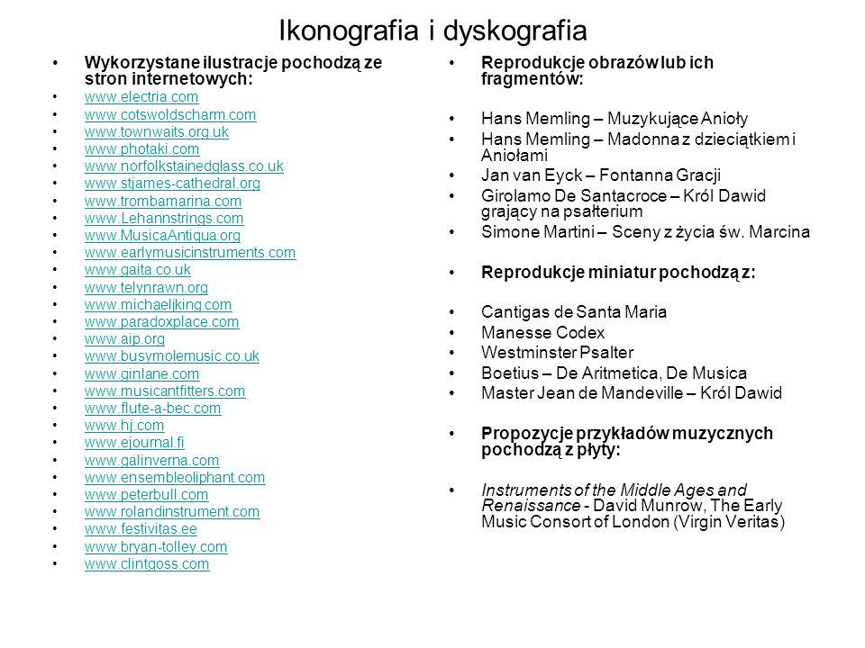 Ikonografia i dyskografia