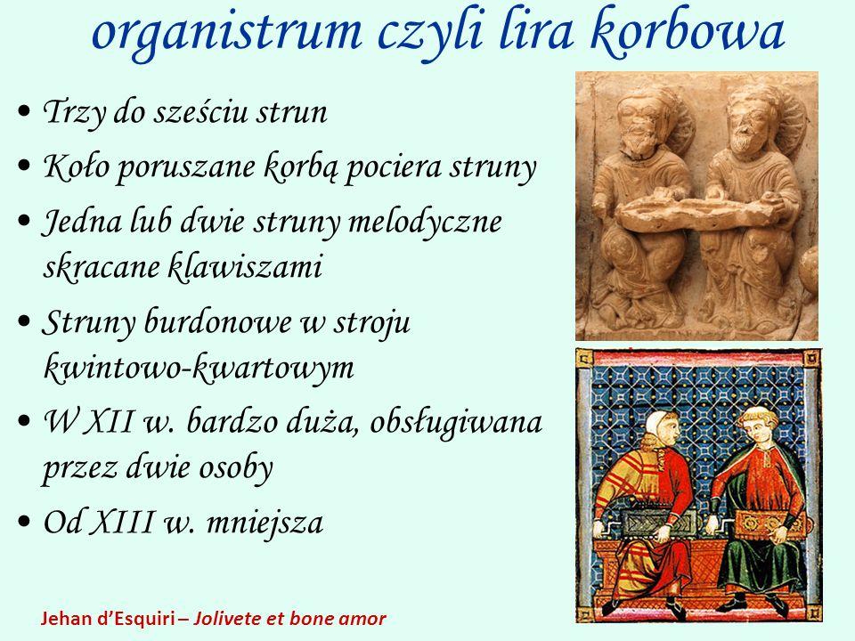 organistrum czyli lira korbowa