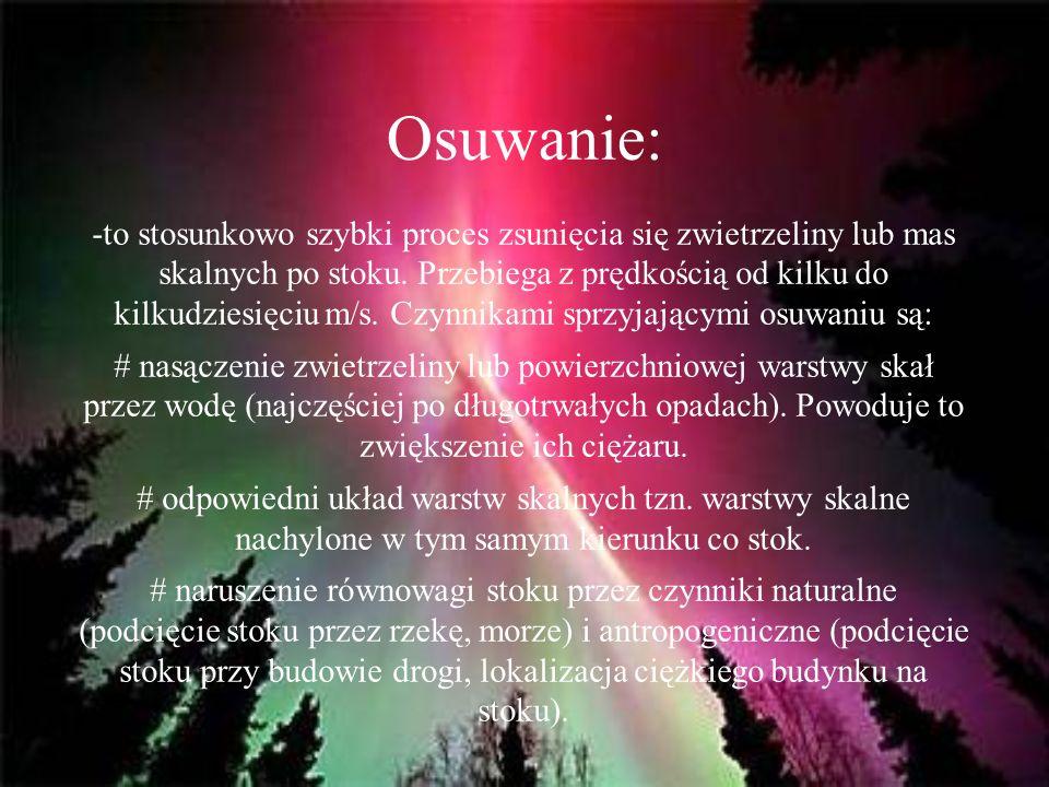 Osuwanie:
