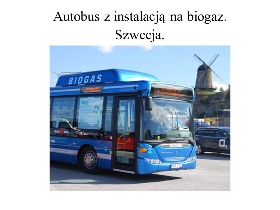 Autobus z instalacją na biogaz. Szwecja.