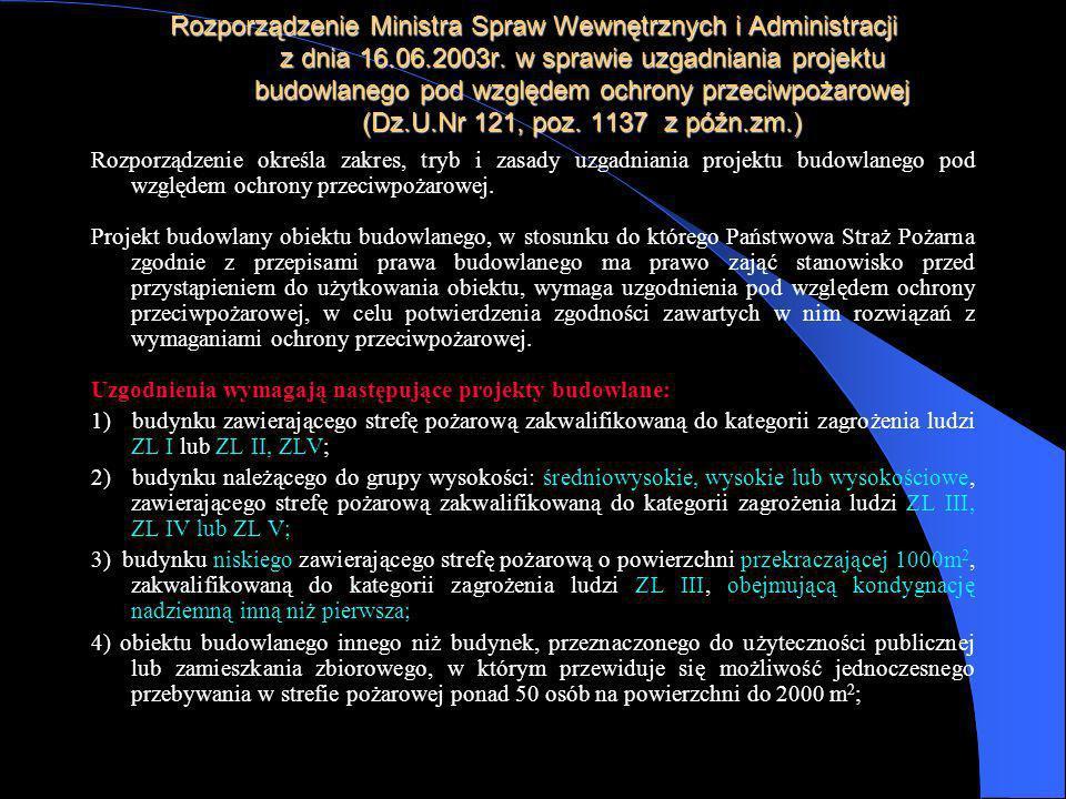Rozporządzenie Ministra Spraw Wewnętrznych i Administracji z dnia 16