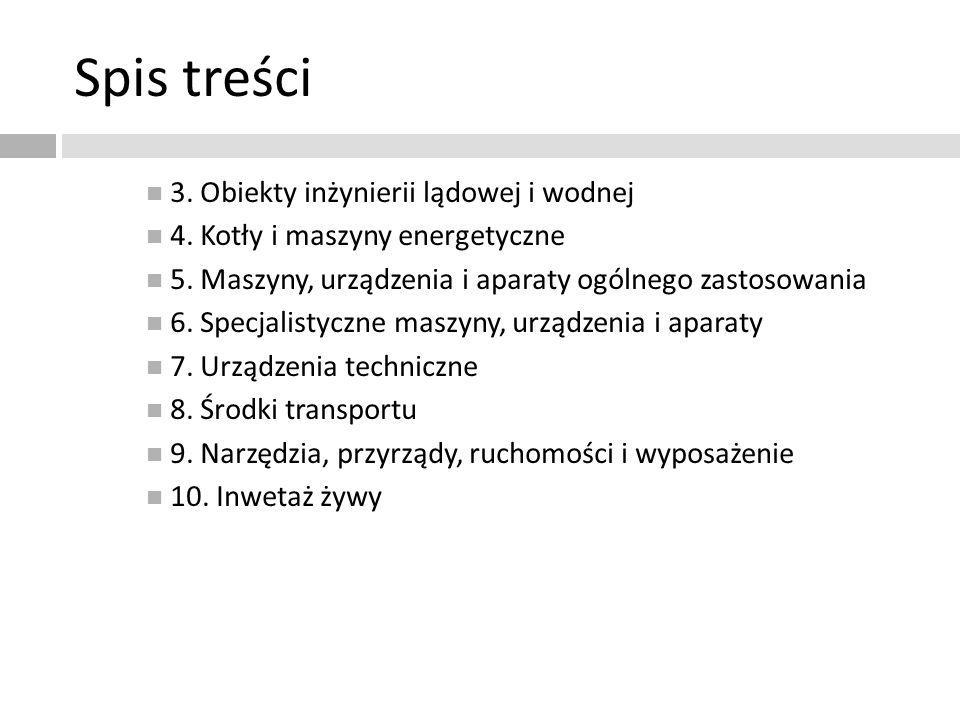 Spis treści 3. Obiekty inżynierii lądowej i wodnej