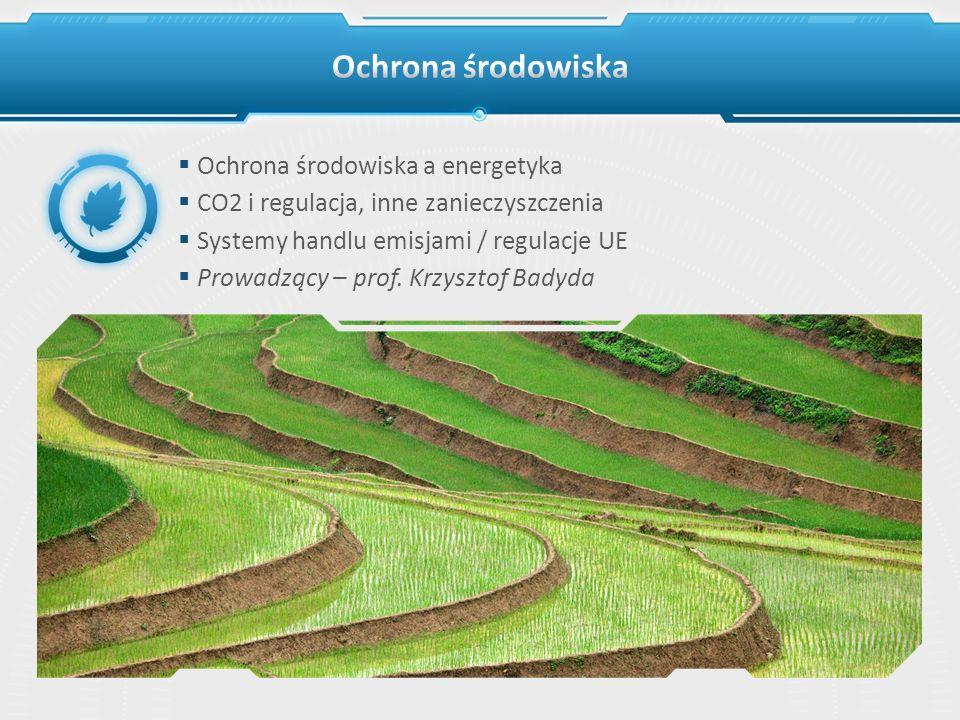 Ochrona środowiska Ochrona środowiska a energetyka