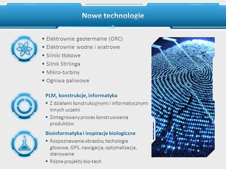 Nowe technologie Elektrownie geotermalne (ORC)