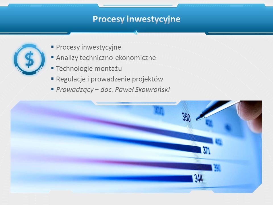 Procesy inwestycyjne Procesy inwestycyjne