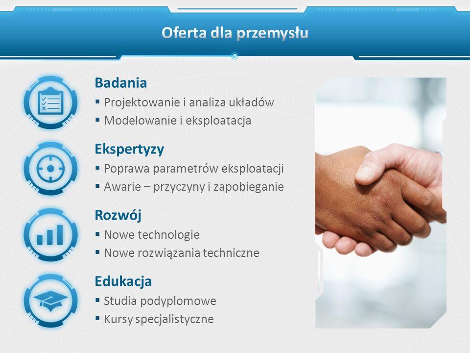Oferta dla przemysłu Badania Ekspertyzy Rozwój Edukacja